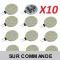 Lot de 10 Ampoules G4 à 12 Leds SMD 5730 Blanc Froid AC/DC 10-30V
