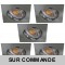 LOT DE 5 SPOT LED CARRE 230V ALU BROSSE 38° LED 5W RENDU 50W BLANC CHAUD