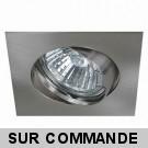 Spot Encastrable Carré Orientable Finition Nickel Satiné pour ampoule GU10 230V Halogène / LED - Max 50W