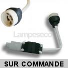 Douille GU10 Complète Avec Raccord Protégé, Pour Ampoules Halogene et Led