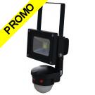 LED Projecteur 10W 6000K IP65 avec détecteur de mouvement PIR