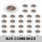 LOT DE 30 SPOT ENCASTRABLE FIXE LED GU10 230V BLANC AVEC COB LED 5W RENDU ENVIRON 50W HALOGENE