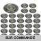 LOT DE 30 SPOT LED FIXE COMPLETE ALU BROSSE AVEC COB LED 5W BLANC NEUTRE