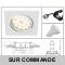 LOT DE 6 SPOT ENCASTRABLE ORIENTABLE CARRE LED SMD GU10 230V BLANC RENDU ENVIRON 50W HALOGENE