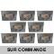 LOT DE 8 SPOT LED CARRE 230V ALU BROSSE 38° LED 5W RENDU 50W BLANC CHAUD