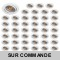 LOT DE 50 SPOT LED RONDE BLANC 230V COB LED 5W RENDU 50W BLANC CHAUD
