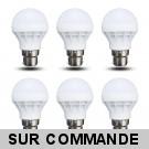Lot de 6 Ampoules LED B22 à baïonnette forme Mini Globe 3W Blanc Chaud 240 Lumens