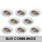 LOT DE 8 SPOT LED RONDE BLANC 230V COB LED 5W RENDU 50W BLANC CHAUD