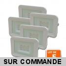 Lot de 5 LED Projecteur Lampe 10W Blanc 6000K IP65 Extra Plat