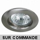 Spot Encastrable Fixe Nickel Satiné pour ampoule MR16 (GU5.3) Halogène / LED - Max 50W - fourni avec ampoule halogène de choix