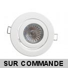 Support encastrable escargot ronde blanc pour ampoules halogènes, CFL ou LED