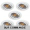 LOT DE 5 SPOT LED RONDE BLANC 230V COB LED 5W RENDU 50W BLANC CHAUD