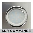 Lot de 4 Spot Led Encastrable Carré Alu Brossé Orientable lumière Blanc Chaud 5W eq. 50W ref.411