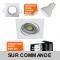 LOT DE 8 SPOT LED CARRE BLANC 230V 5W 38° RENDU eq. ENV 50W BLANC NEUTRE