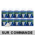 Lot de 10 Ampoules GU10 5W eq. 40W 3000K Blanc Chaud Marque V-TAC