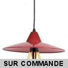 Suspension Jovit LED E27 rouge avec ampoule 8W eq. 60W Cob Led