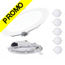 Lot de 5 Spot Encastrable LED Downlight Panel Extra-Plat 12W Blanc Neutre 4200-4500K