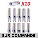 Lot de 10 Ampoules led G9 3.2 watt (eq. 25watt) Compatible Variateurs