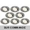 LOT DE 8 SPOT LED ENCASTRABLE ORIENTABLE ALU BROSSE AVEC AMPOULE GU10 230V eq. 50W, BLANC CHAUD 3000K