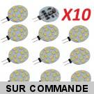 Lot de 10 Ampoules G4 à 12 Leds SMD 5730 Blanc Chaud AC/DC 10-30V