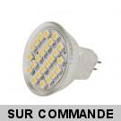 Ampoule à 24 leds SMD Blanc Chaud Culot MR11 (GU4).  Diffusion exceptionelle a 120°