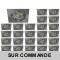 LOT DE 25 SPOT LED CARRE 230V ALU BROSSE 5W RENDU 50W BLANC NEUTRE