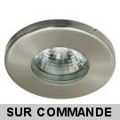 Spot Bain et Douche Etanche IP44 Nickel Satiné avec ampoule LED GU10