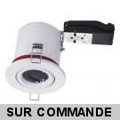 Support de spot BBC Orientable diametre 100mm avec douille GU10 automatique ref. 802