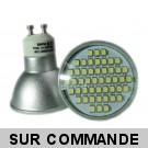 Lot de 10 Ampoules GU10 à 48 LEDs SMD Blanc Lumière du Jour, Diffusion 120°