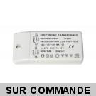 Transformateur electronique 10 à 60W CE RoHS pour ampoules halogènes