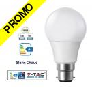 Ampoule LED V-TAC Culot B22 12W (éq. 75W) 1055lm angle 200° lumière blanc chaud 3000K