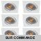 LOT DE 6 SPOT LED CARRE BLANC 230V COB LED 5W RENDU 50W BLANC CHAUD