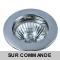 Spot Encastrable Fixe Chrome pour ampoule GU10 Halogène / LED - Max 50W - Fourni avec ampoule halogène et douille
