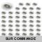 LOT DE 50 SPOT LED RONDE BLANC 230V COB LED 5W RENDU 50W BLANC NEUTRE