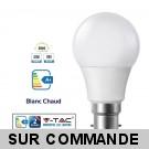Ampoule LED V-TAC Culot B22 10W (éq. 60W) 806lm angle 200° lumière blanc chaud 3000K