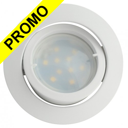 spot led encastrable complete blanc orientable lumi re blanc chaud eq 50w. Black Bedroom Furniture Sets. Home Design Ideas