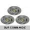 LOT DE 3 SPOT LED RONDE ALU BROSSE 230V 5W RENDU 50W BLANC NEUTRE