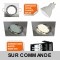 LOT DE 40 SPOT ENCASTRABLE ORIENTABLE LED CARRE ALU BROSSE GU10 230V eq. 50W BLANC CHAUD
