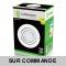 Spot Led Encastrable Complete Blanc Orientable lumière Blanc Chaud eq. 50W ref.193