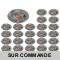 LOT DE 25 SPOT LED RONDE ALU BROSSE 230V COB LED 5W RENDU 50W BLANC CHAUD