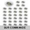 LOT DE 40 SPOT LED RONDE BLANC 230V COB LED 5W RENDU 50W BLANC FROID