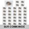 LOT DE 40 SPOT LED CARRE BLANC 230V COB LED 5W RENDU 50W BLANC CHAUD