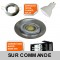 LOT DE 5 SPOT LED FIXE COMPLETE ALU BROSSE 38° 5W eq. ENV 50W BLANC NEUTRE
