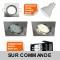 LOT DE 6 SPOT ENCASTRABLE ORIENTABLE LED CARRE ALU BROSSE GU10 230V eq. 50W BLANC CHAUD