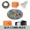 LOT DE 50 SPOT LED RONDE ALU BROSSE 230V 5W RENDU 50W BLANC NEUTRE