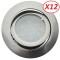 Lot de 12 Spot Led Encastrable Complete Satin Orientable lumière Blanc Neutre eq. 50W ref.895