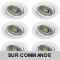 LOT DE 6 SPOT LED RONDE BLANC ORIENTABLE 5W 38° BLANC NEUTRE
