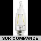 Ampoule Led Flamme Coup de Vent Filament 4 watt (éq. 42 Watt) Culot B22 à baïonnette