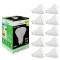 Pack de 10 Ampoules Led GU10 5W Blanc Froid 6000K eq. 50W Halogène 120°