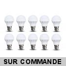 Lot de 10 Ampoules LED culot B22 à baïonnette forme Mini Globe 5W Blanc Chaud 400 Lumens
